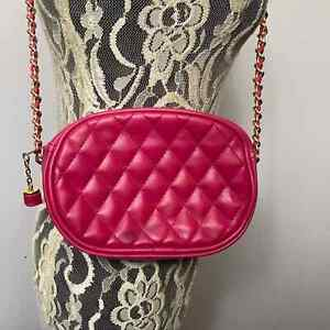 Beautiful Pink Purse with gold chain strap