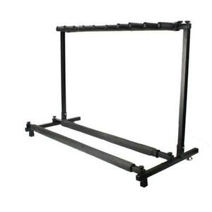 9 Holder Guitar Stand Folding Stand Rack Band Stage Bass Acoustic Guitar US