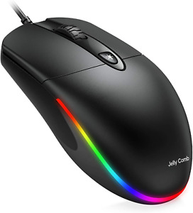 Jelly Comb Usb Wired MouseRgb Optical Silent Computer Mouse1600 Dpi Office And