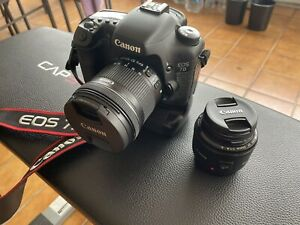 Canon 7d With Battery Grip And 2 Lens