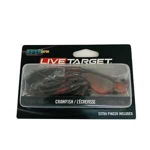 Live Target Jig Freshwater Lures CHB45S144 Hollow Body Craw Fishing