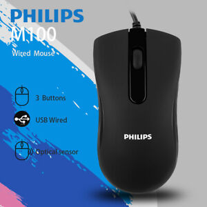 Philips SPK7214 USB Wired Computer Mouse for PC Laptop Desktop Computers