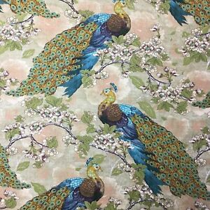 Peacock Sewing Cotton Quilting Fabric 1 2 Yard $10.14