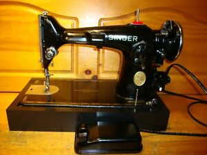 WWII SINGER SEWING MACHINE MODEL 201 2 SERVICED $300.00