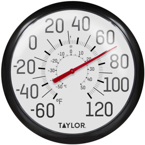 Indoor Extra Large Outdoor Thermometer 13.25Llll Dial Patio Weather Resistant $14.36