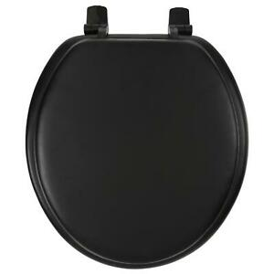 Ginsey Soft Round Soft Toilet Seat Black Home Bathroom Cover Tools Essentials