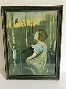 Vintage Cottage Core Painting Soft tone Gods Creation in The Woods 17.5quot;x13 3 4