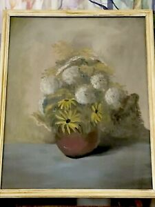 Antique Painting Wildflowers 1963 $45.00