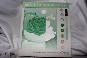 Elle Cree Paint By Number Kit Blooming Succulent 8 X 10 Inch Canvas $19.99