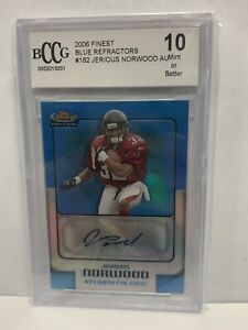 2006 Topps Finest Auto Blue Refractors 294 299 #182 Jerious Norwood BCCG 10 $10.00