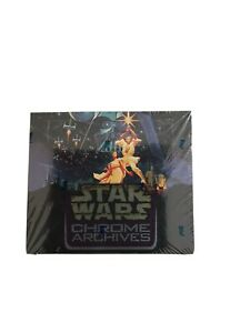 Topps Chrome Star Wars Archives Box Sealed Hard To Find $500.00