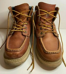 Rockrooster Mens Work Boots 6quot; Soft Toe Non Slip Safety Casual Wedge Sz 10.5