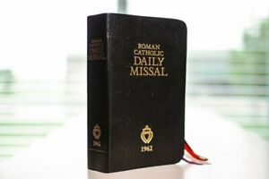 1962 Roman Catholic Daily Missal for the Traditional Latin Mass Black BEST PRICE $65.98