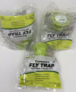Lot of 3 Rescue Non Toxic Outdoor Disposable Hanging Bag Fly Traps