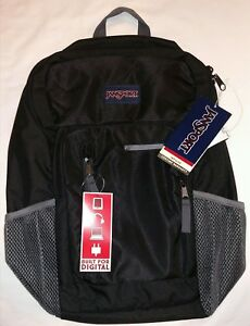 JanSport Impulse Black Triangle New With Tags NWT 17quot; laptop compartment tablet
