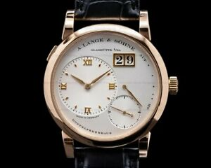 A. Lange and Sohne Lange 1 101.032 18K Rose Gold Silver Dial BOX PAPERS