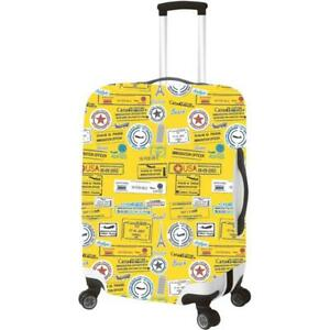 New Luggage Cover Protector Medium 22 26quot; Yellow w Travel Pattern by PrimeWare $22.99