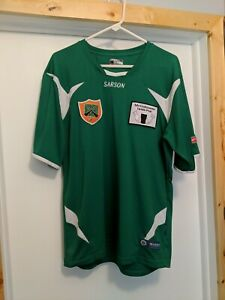 Sarson Soccer Jersey Size Large Green Dry Fit Shirt Short Sleeve Tee $10.99
