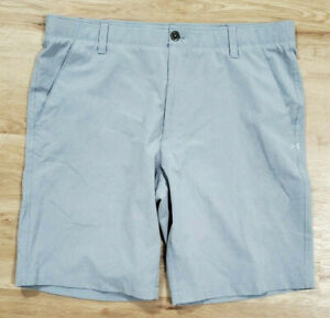 Under Armour Mens Shorts Size 38 Match Play Vented Gray $34.99