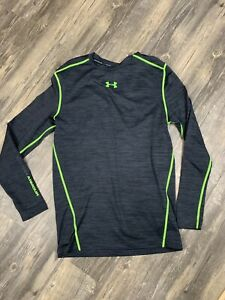 Mens Under Armour Cold Gear Long Sleeve Mock Neck Compression Shirt Size L $16.50