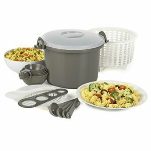 Prep Solutions by Progressive Microwaveable Rice and Pasta Cooker 17 Piece Se...