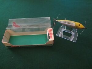 Vintage fishing lure Heddon Wounded Spook xry
