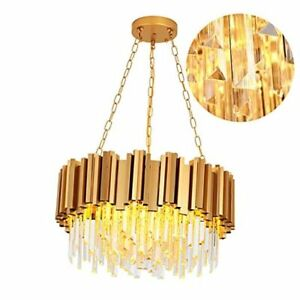 Modern Chandaliers Crystal with Light 2 Tier Crystal Chandelier Hanging