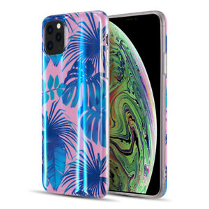 Vogue Collection Holographic Printing TPU Case for iPhone 11 Pro Tropical
