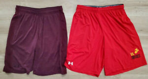 Under Armour Mens Shorts Size Medium Lot of 2 Purple Red $29.99