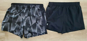 Under Armour Mens Shorts Size XL Lined Lot of 2 Heat Gear Black Gray $29.99