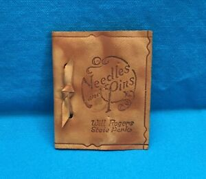 quot;NEEDLES AND PINSquot; WILL ROGERS STATE PARK SEWING HOLDER ACCESSORY SOUVENIR $9.95