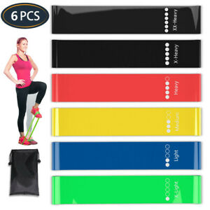 Workout Resistance Bands Loop Fitness Yoga Booty Leg Exercise Strength Pilates $8.35