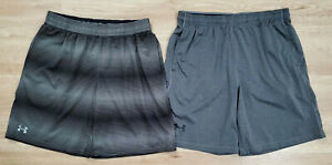 Under Armour Mens Shorts Size XL Loose Heat Gear Lot of 2 Gray Black $29.99