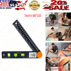 Digital Angle Finder Tool 7inch 0 360° LED Digital Protractor with Horizontal $22.95