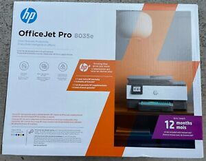 HP OfficeJet Pro 8035e Color Printer All In One Print Scan Copy Fax Gray $169.99