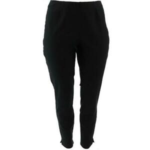 Women with Control Everyday Waist Ankle Pants Black