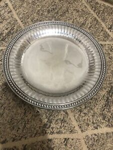 Wilton Armetale Large Flutes And Pearls Tray 13.5 Inches $15.00