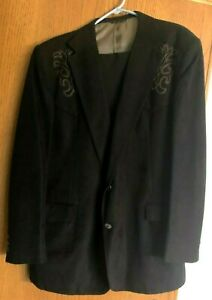 Men#x27;s Pagano West Tailored Apparel Western Style Blackn Suit 50L USA LN $49.00