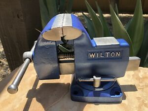Restored Vintage Wilton Swivel Bench Vise 4� Jaws #121270 Made In USA 🇺🇸 $99.00