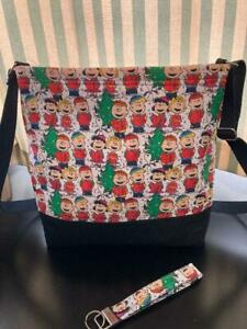 Peanut#x27;s Gang Christmas Quilted Crossbody Bag $19.99