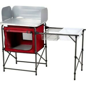 Deluxe Camp Kitchen with Storage amp; Sink Table Ozark Trail Outdoor Sporting Goods