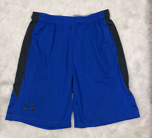 mens UNDER ARMOUR shorts large loose Blue with pockets $18.99