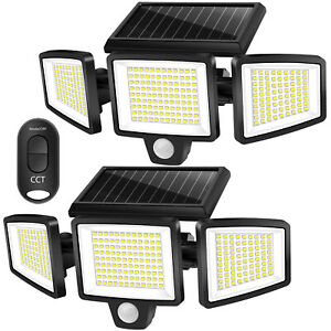 2 Pack Solar Motion Sensor Lights 264 LED 2500LM Waterproof with Remote Control $39.99