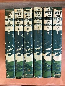 1911 The Wit and Humor of America Volumes 4 5 6 7 9 10 Antique with Dust Covers $25.00