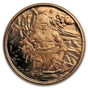 1 oz Copper Round Frost Giant