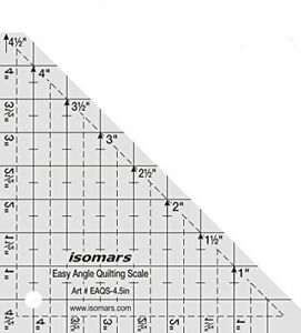 Isomars Easy Angle Quilting Ruler 4.5quot; Used To Cut Squares amp; Triangles $17.99
