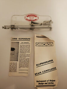 Omicron Ellipsograph with Papers Engineering Drafting Tools AV023 $69.99