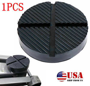 Universal Floor Jack Pads Rubber Pad Adapter Car Truck Cross Slotted Frame Rail $14.31