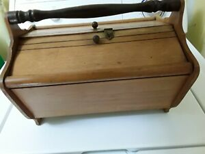 antique wooden sewing box $22.99