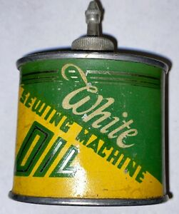 VINTAGE WHITE SEWING MACHINE OIL CAN HANDY OILER EXTREMELY RARE $155.00